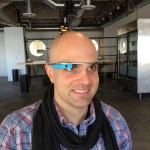 Trying on Google Glass